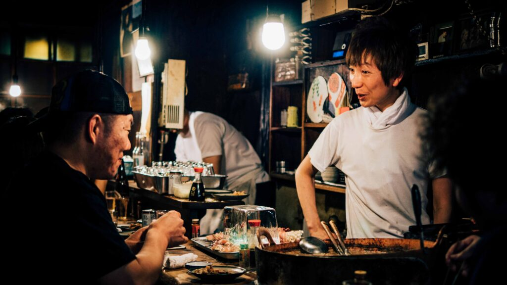 Conversation between a customer and chef