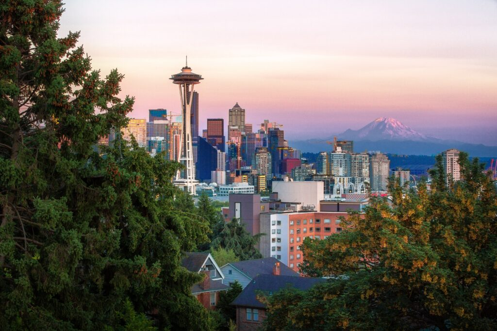 City view of downtown Seattle, Washington