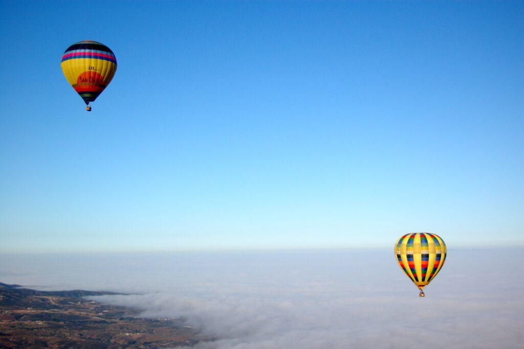 Hot air balloons in Temecula