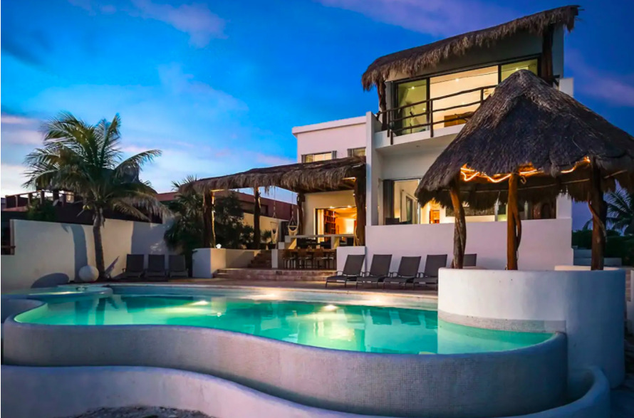 mexico villa on airbnb