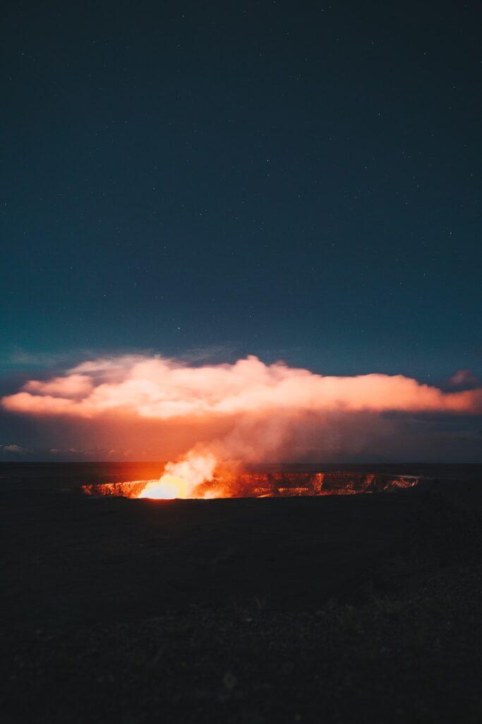 Hawaii Volcanoes National Park on the Island of Hawaii