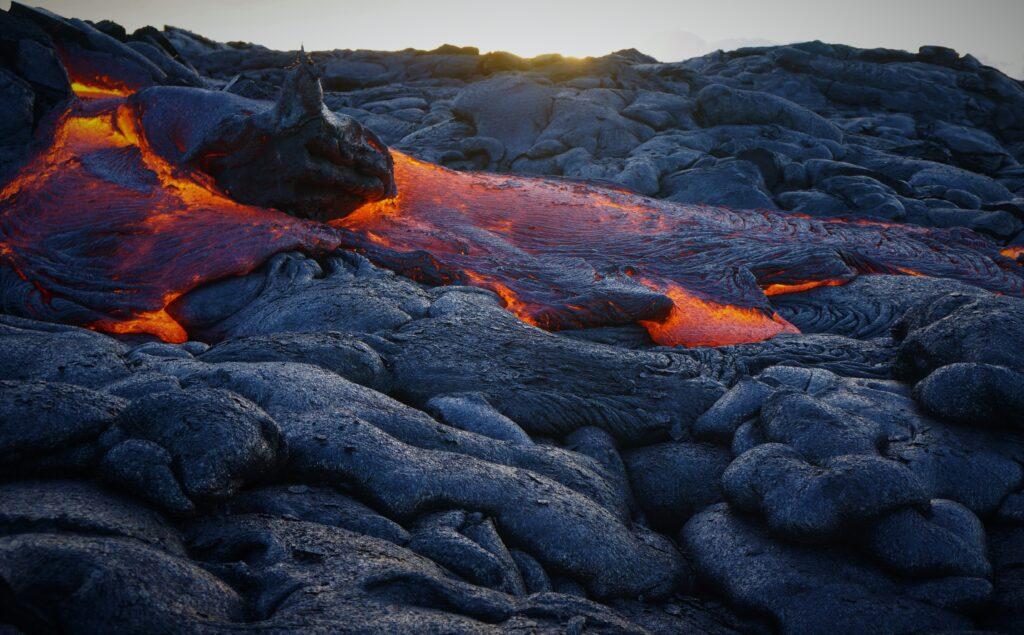 Lava at the Hawaii Volcanoes National Park