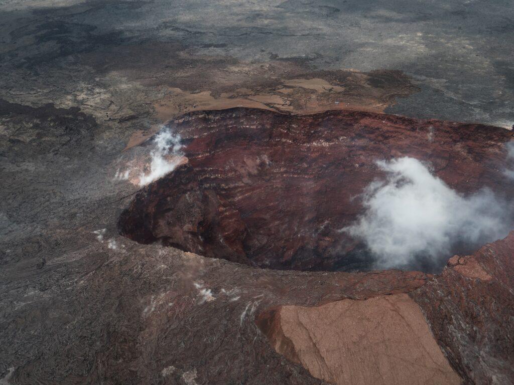 The Kilauea Iki volcano on the big island, Hawaii