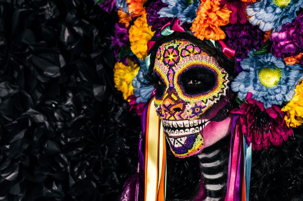 Female in Mexican-inspired make up