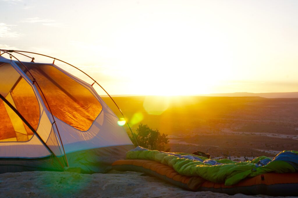 Sunset from a tent