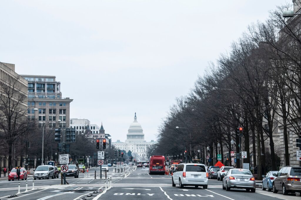Street view of Washington, DC