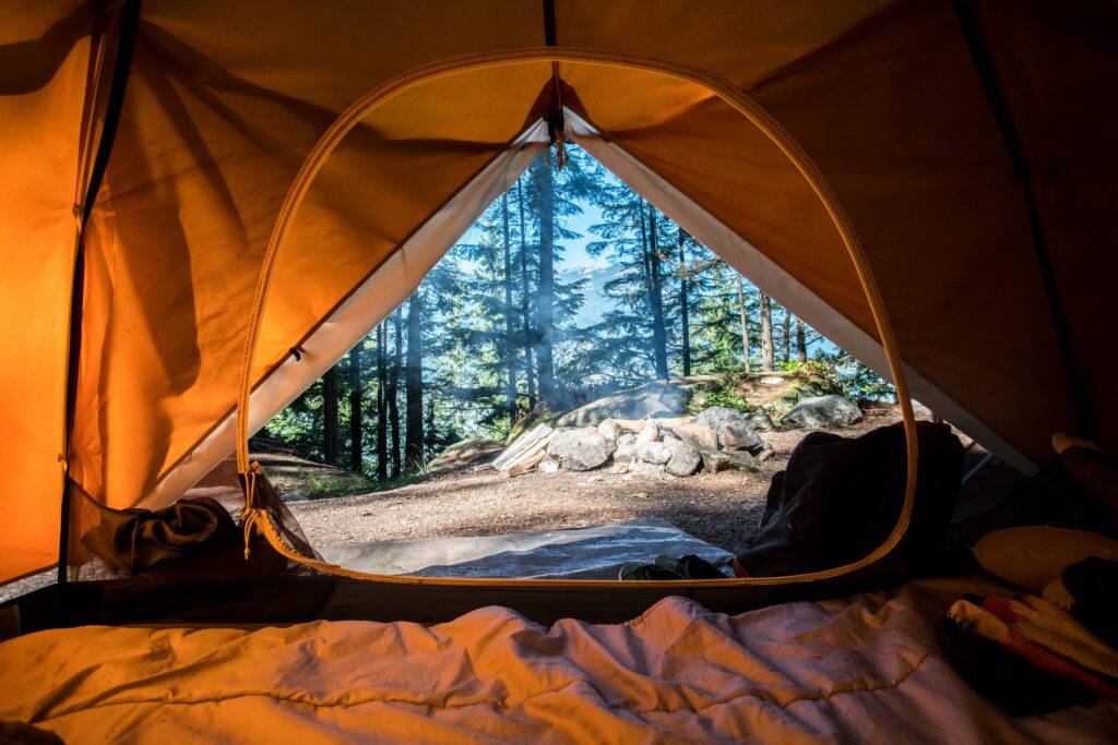 Views from a tent