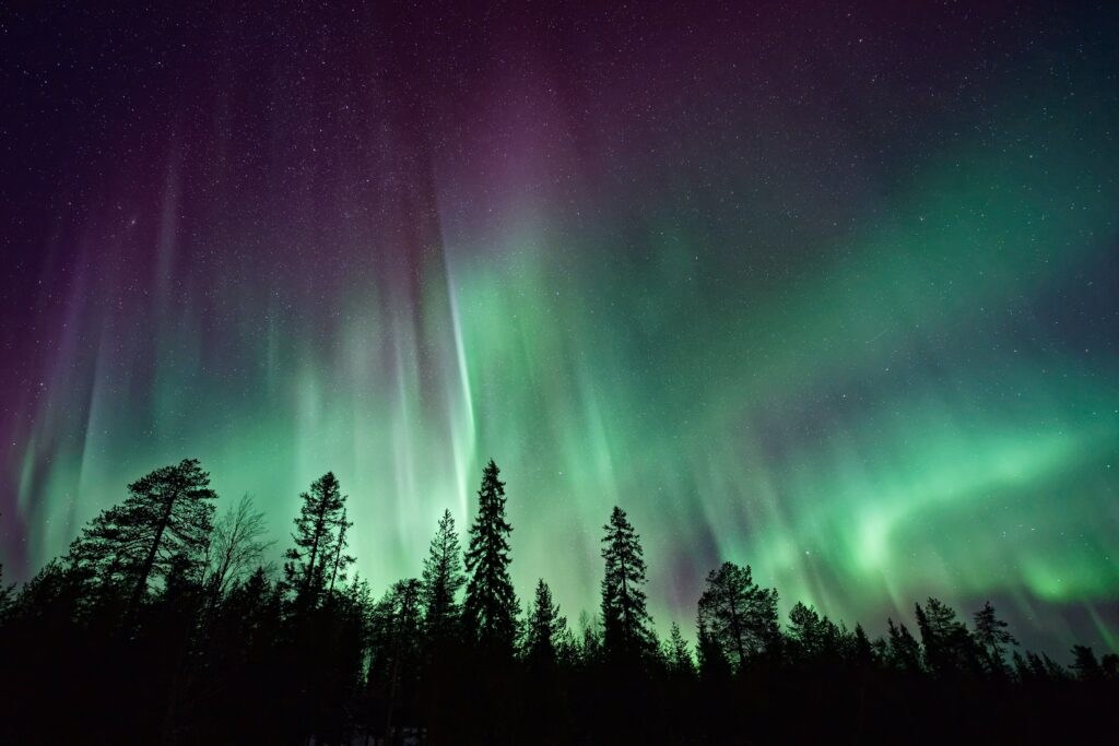 Outdoor adventures viewing the Northern Lights