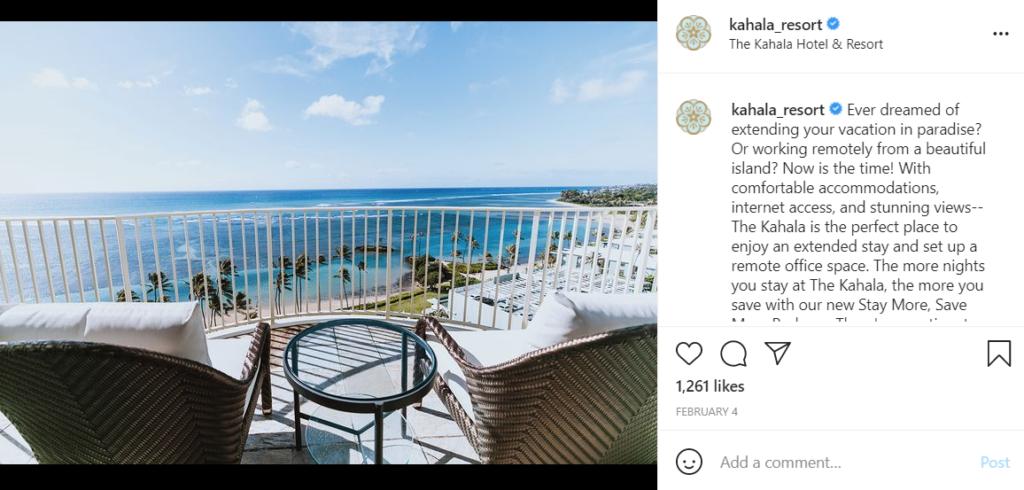 Kahala Resort in Oahu