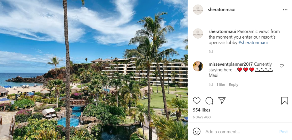 The Sheraton Maui