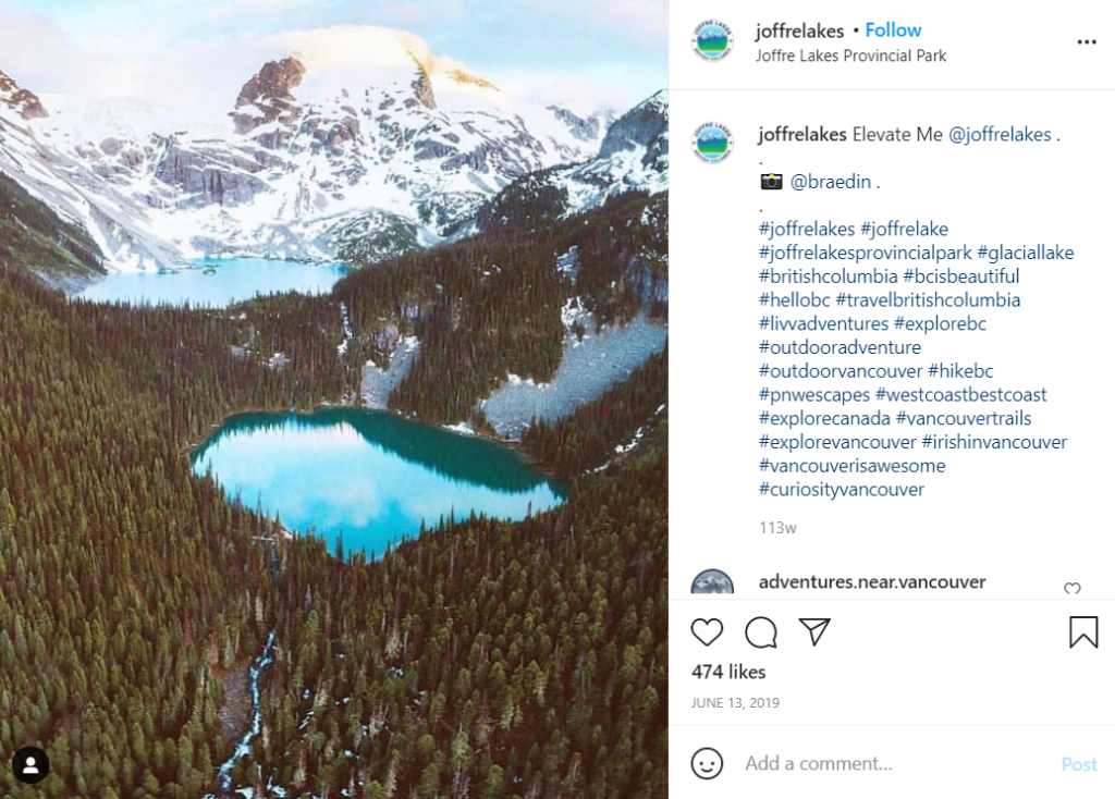 Joffre Lakes in BC