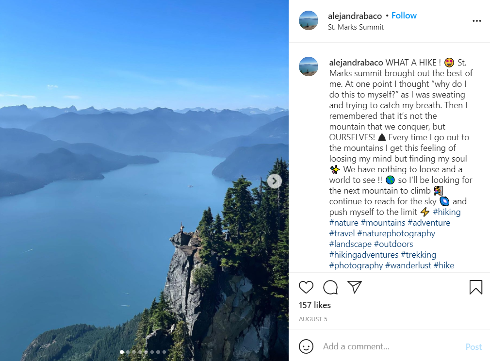 St. Mark's Summit hike near Vancouver