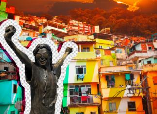 Michael Jackson statue in Brazil