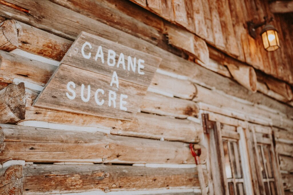 """A sign saying """"Cabane a Sucre."""""""