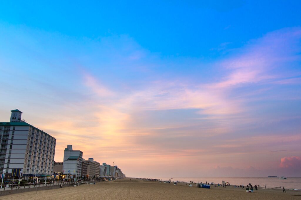 Virginia Beach in Virginia on Labor Day weekend