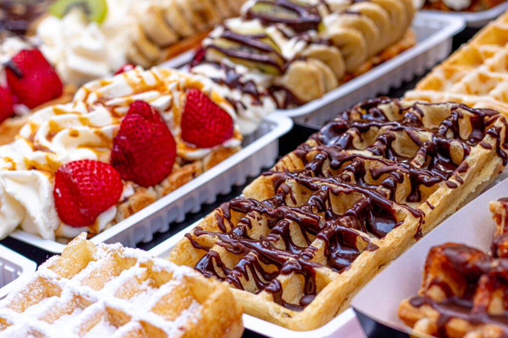 Liege waffles in Belgium