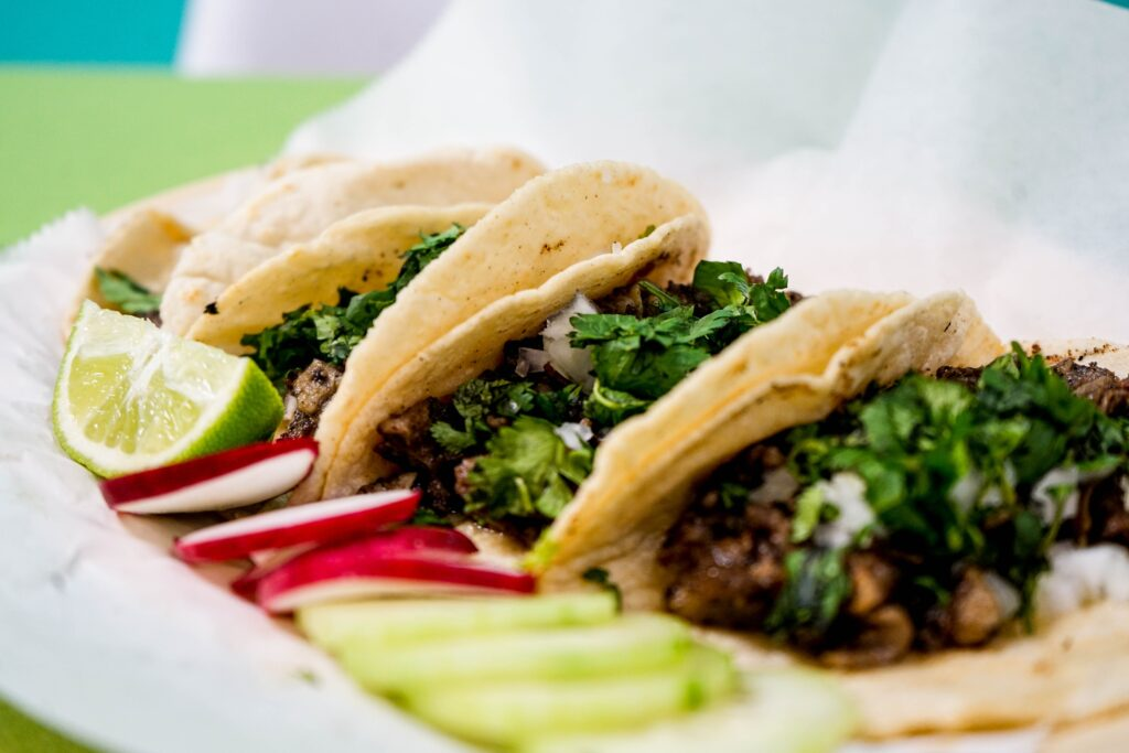 Authentic tacos from Mexico