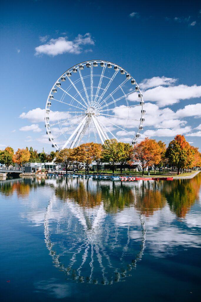 The famous Montreal ferris wheel