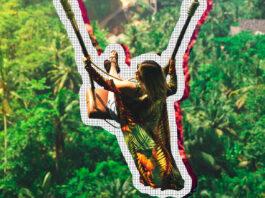 girl swinging in bali