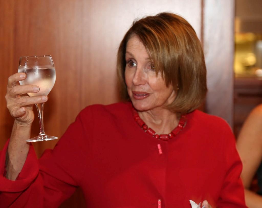 Leader Nancy Pelosi toasts Tadich Grill