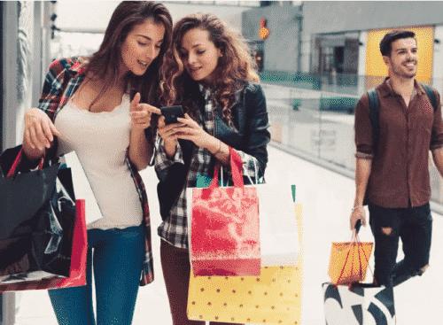 Haciendo compras con tarjetas de crédito