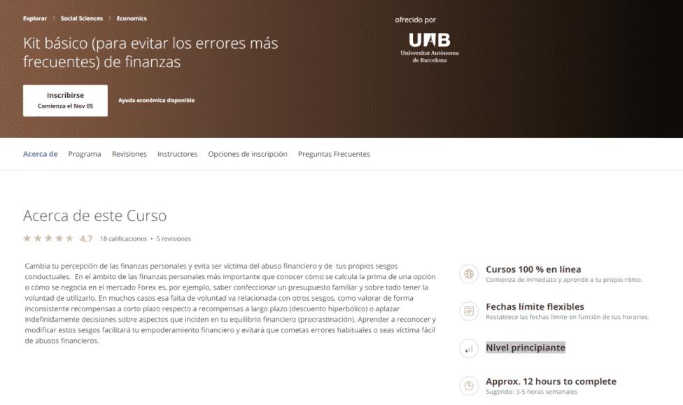 Finanzas Personales - Universidad Autónoma de Barcelona