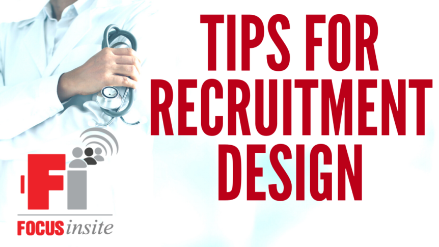 Industry Insight : Tips for Recruitment Design