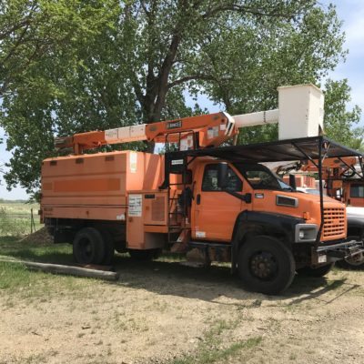 GMC Bucket Truck Orange