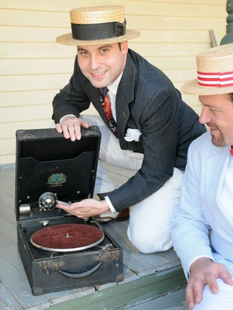 Vintage 78s ready to spin at Jazz Social