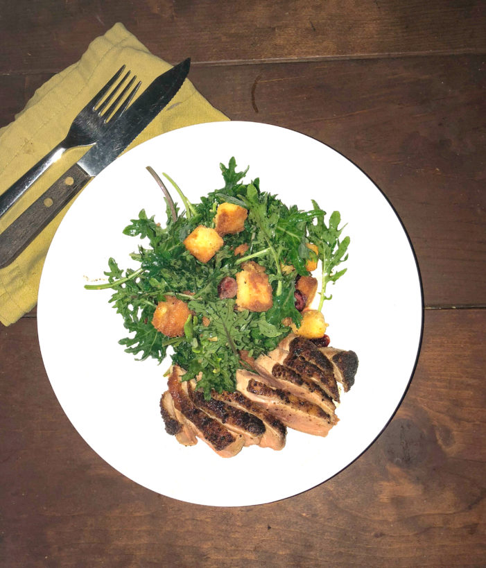 Duck Breast with Kale Salad