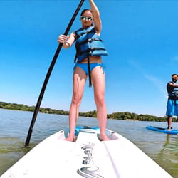 Surfs up at lake for sunscreen swap