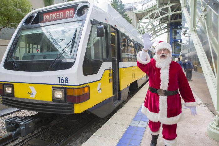 Santa Cops encourage all to 'Stuff a Bus'