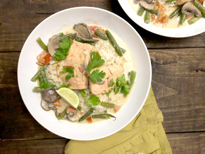 Quick Thai Green Curry Salmon