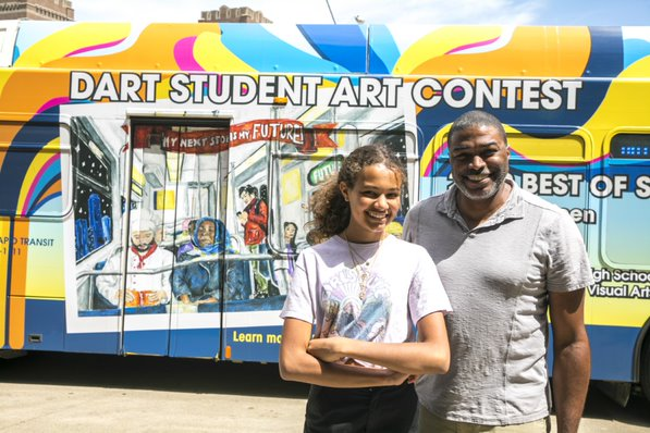 Booker T. student's artwork wins