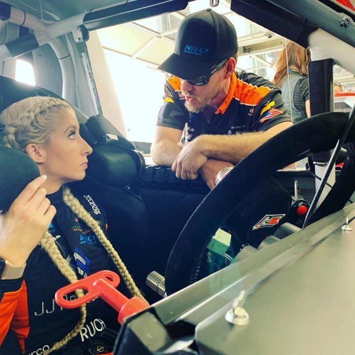 Angela Ruch 'drives like lightning'