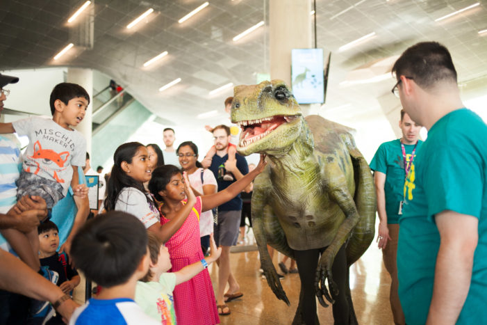 Labor Day goes prehistoric at Perot
