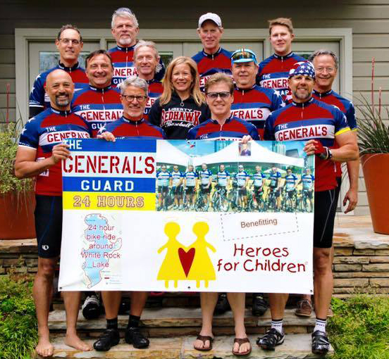 Heroes for Children riding virtually