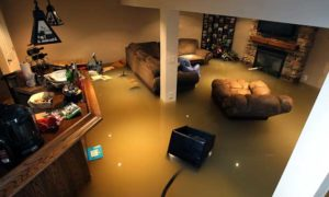 Flooded Basement Severe Water Damage