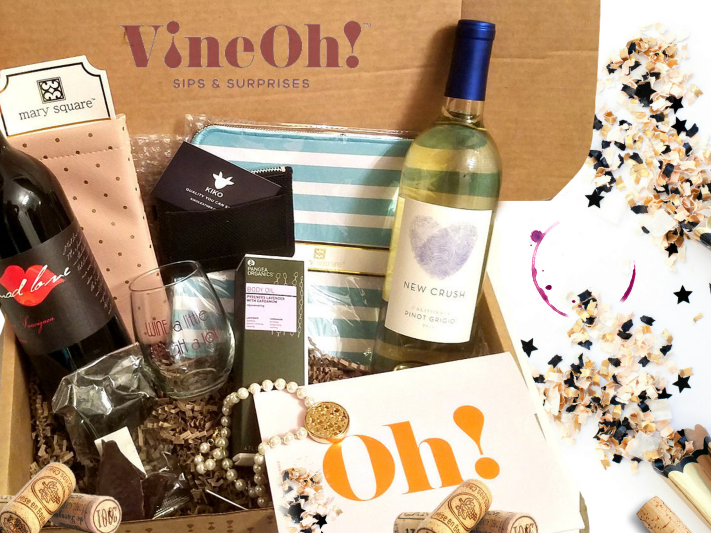 The Best wine box subscription by Vine Oh wine and beauty after forty