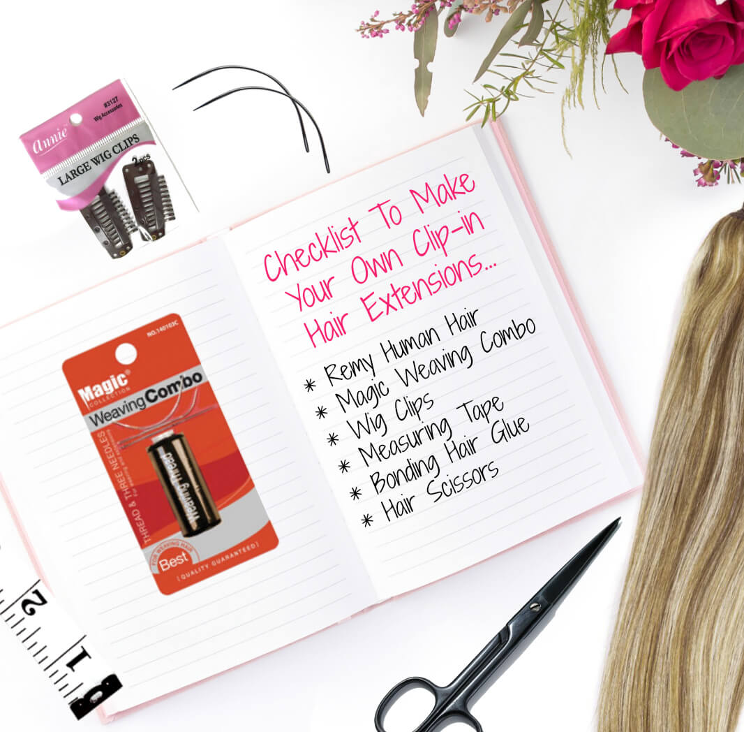 How to make your own clipin hair extensions with beauty after forty