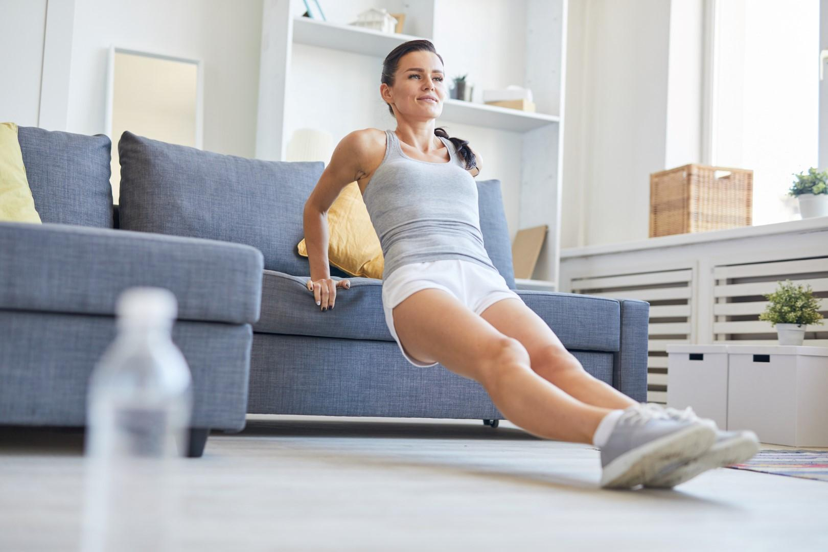 Workouts You Can Do From the Sofa by beauty after forty