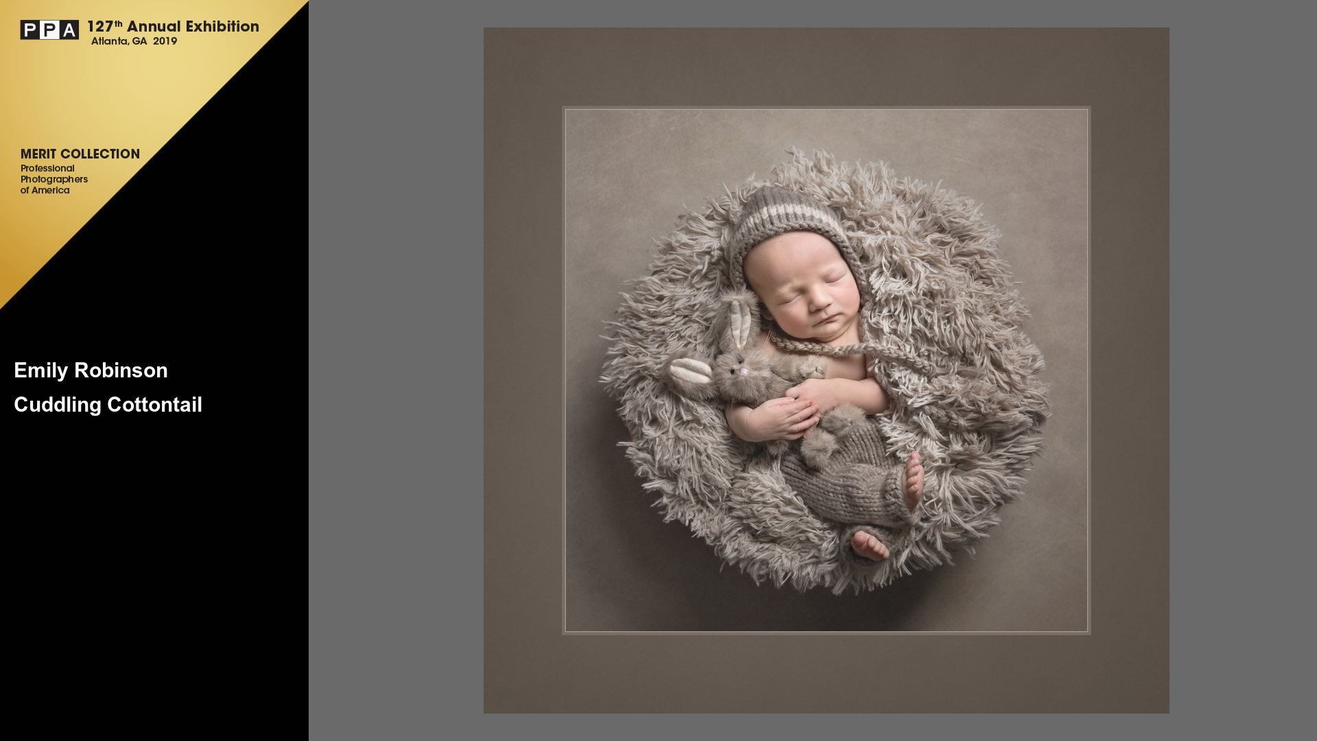Cuddling Cottontail | Award Winning Professional Newborn Photographer