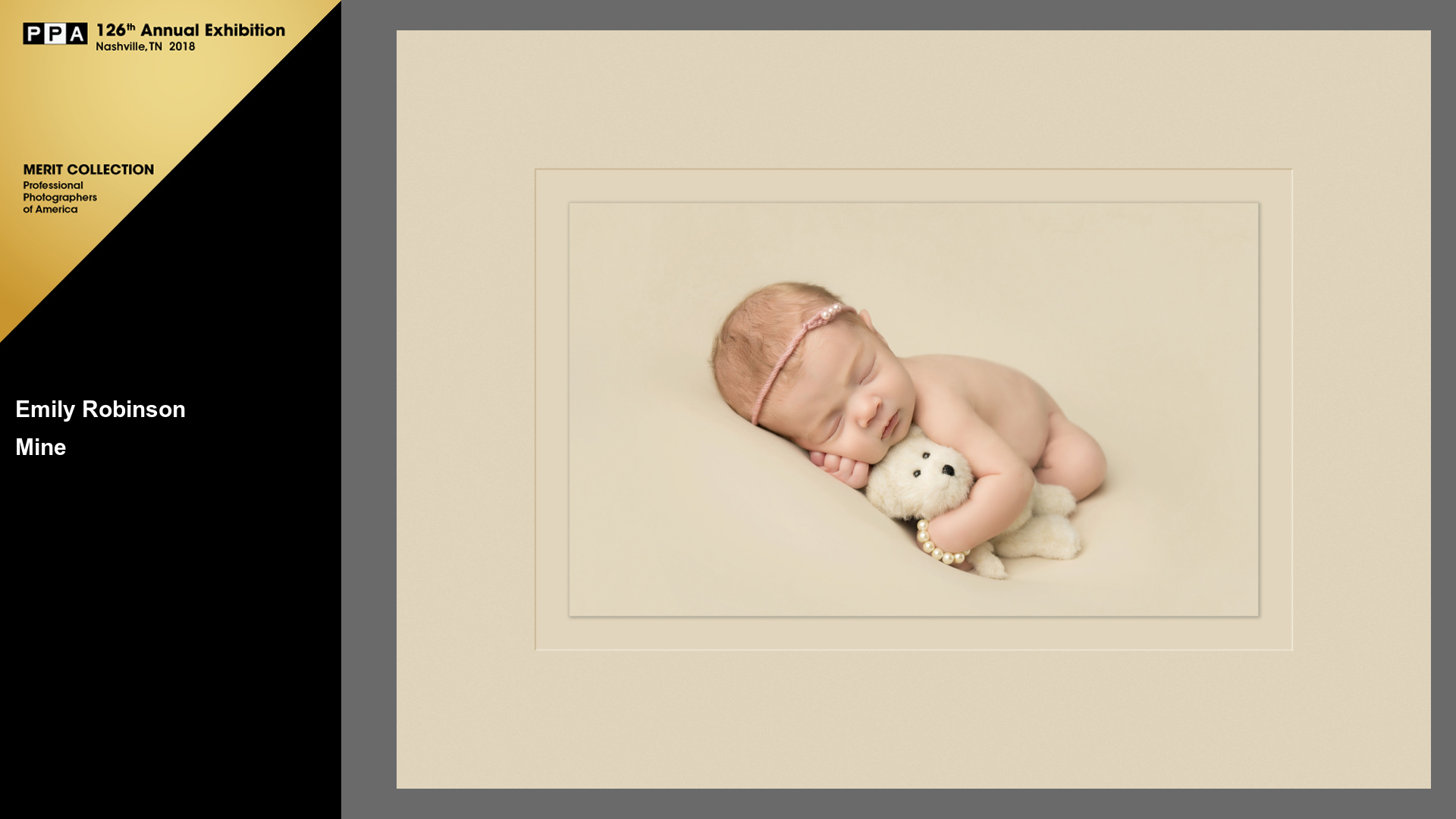 Mine | Award Winning Newborn Photographer | Baby Girl with Bear