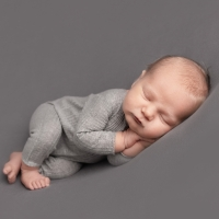 Newborn boy Side-laying pose
