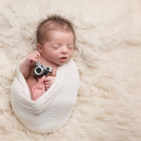 Photo of photographer's newborn, future photographer