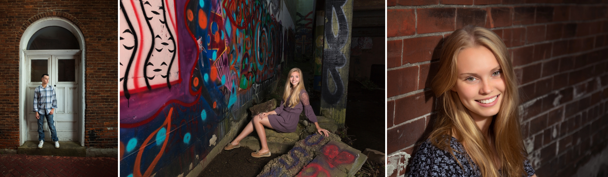 Springville Senior Photographer Girls Urban Graffiti