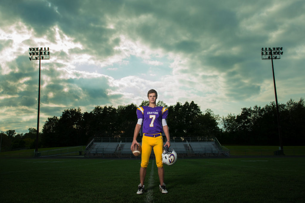 springville senior pics, football, sports photos