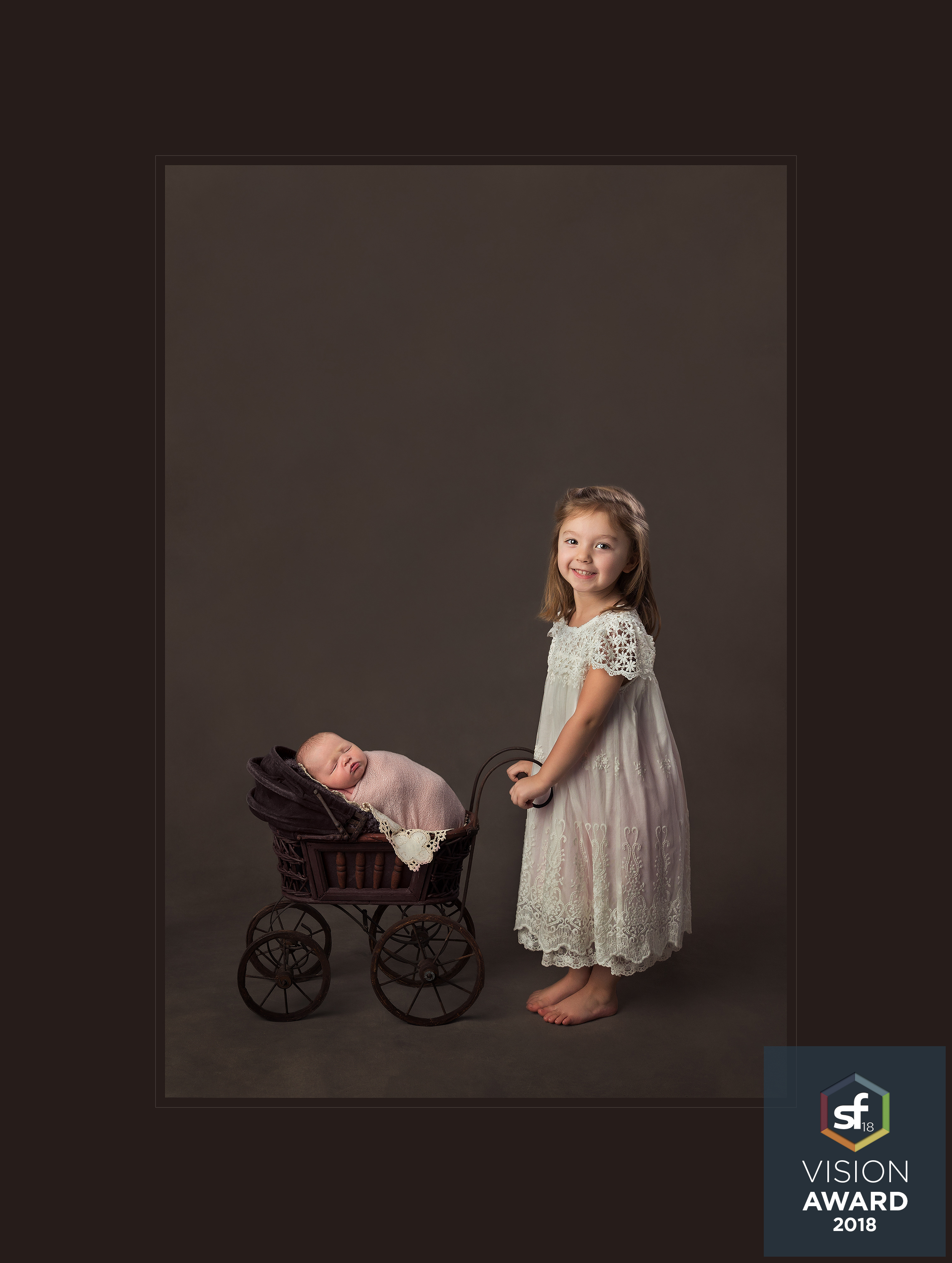 Mercy Hospital Newborn Photographer, Baby Carriage, Siblings