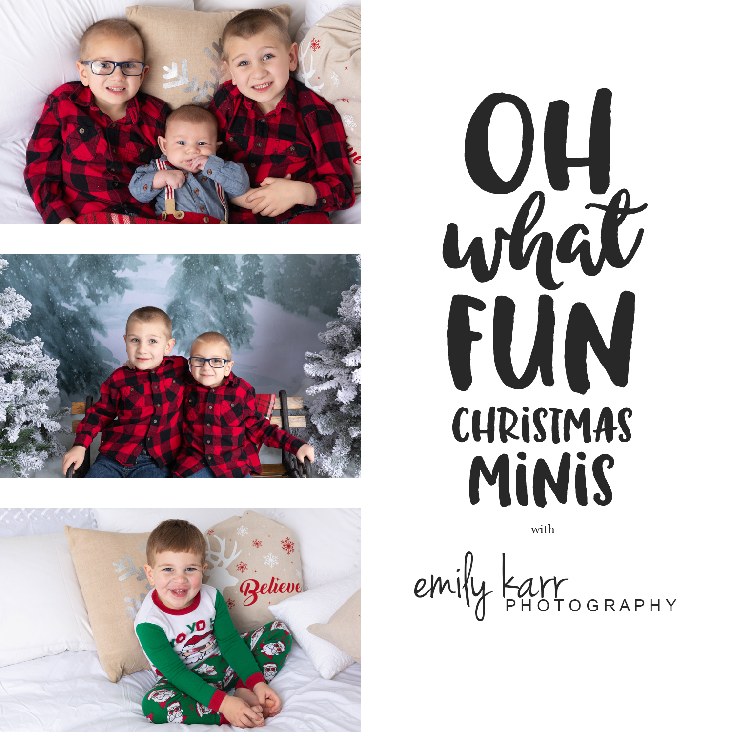 Pajama sessions, winter photos, children's photos