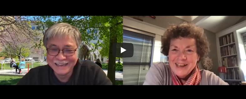 Foon Sham and Kathy Freshley in conversation